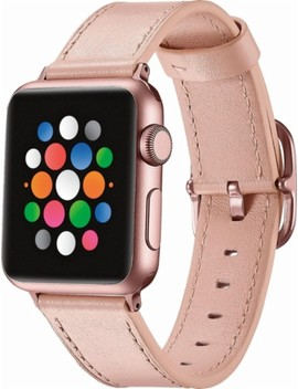 Leather Watch Strap For Apple Watch™ 38mm   Pink by Platinum