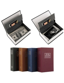 Popular Safe Box Dictionary Secret Book Money Hidden Secret Security Safe Lock Cash Money Coin Storage Jewellery Password Locker by Leshp
