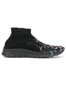 Paint Drop Sock Sneakershome Men Shoes Trainers by Maison Margiela