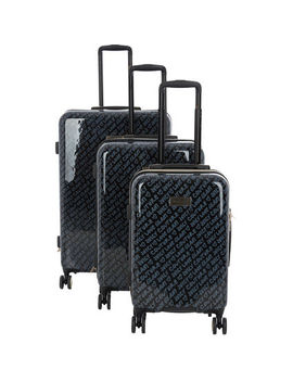 Black Patterned Suitcases by Juicy Couture