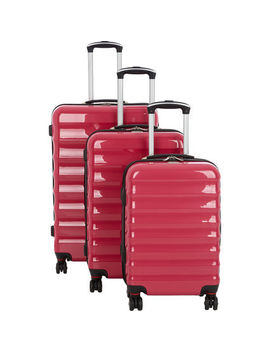 Pink Hard Shell Suitcases by Beverly Hills Polo Club