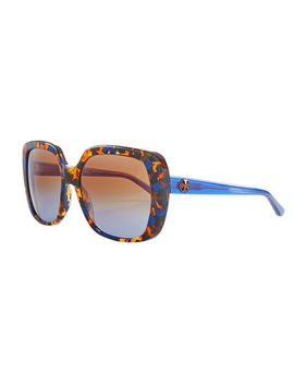 Rectangle Sunglasses W/ Transparent Arms by Tory Burch