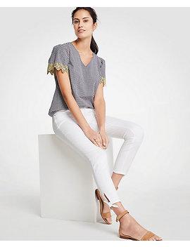 Modern Ankle Tie Skinny Crop Jeans by Ann Taylor