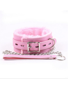 Adult Games Pink Leather Soft Fluff Neck Collar Flirt Erotic Toys Bondage Sex Role Play Bdsm Sex Products Sex Toys For Couples by Ali Express