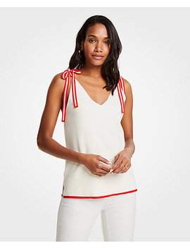 Shoulder Tie Sweater Tank by Ann Taylor