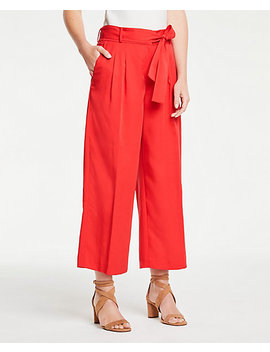 Pleated Wide Leg Crop Pants by Ann Taylor