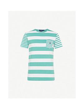 Striped Cotton Jersey T Shirt by Polo Ralph Lauren