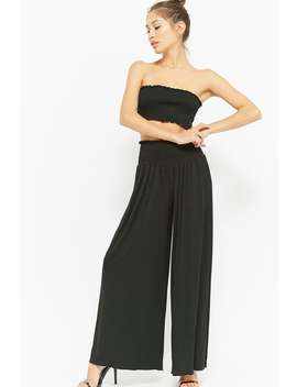 High Rise Smock Waist Palazzo Pants by F21 Contemporary