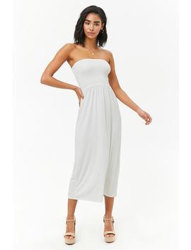 Smocked Midi Dress by F21 Contemporary