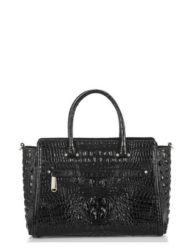Harper Embossed Leather Satchel by Brahmin
