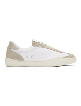 White Canvas Lars Sneakers by Acne Studios