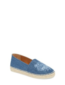 Tiger Embroidered Espadrille by Kenzo