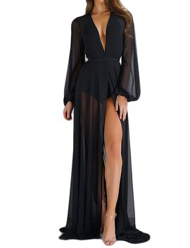 Zamtapary Women Kimono Cardigan Long Maxi Chiffon Bikini Cover Up Swimwear Beach Dress by Amazon