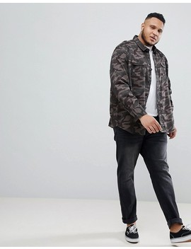 Jacamo Plus Camo Overshirt by Jacamo