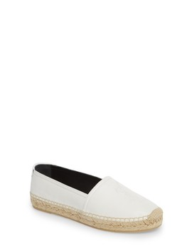 Logo Espadrille Flat by Saint Laurent