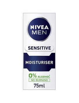 Nivea Men Sensitive Moisturiser, 0 Percents Alcohol Skin Care, 75 Ml, Pack Of 2 by Amazon