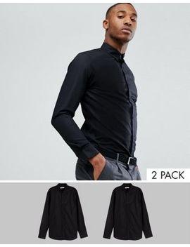 2 премиум рубашки узкого кроя Jack & Jones by Asos