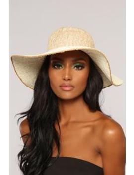Island Getaway Sun Hat   Ivory by Fashion Nova