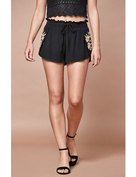 Embroidered Shorts by Kendall & Kylie