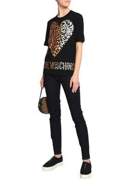 High Rise Skinny Jeans by Love Moschino
