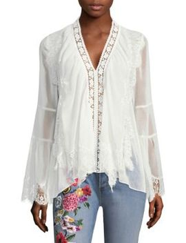 Jaden V Neck Blouse by Alice + Olivia