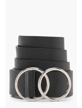Hannah Double Ring Boyfriend Belt by Boohoo