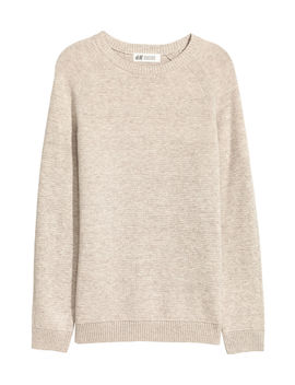 Textured Knit Cotton Jumper by H&M