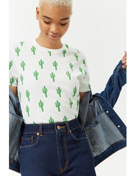 Cactus Print Tee by Forever 21