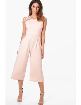 Alaia Strappy Detail Culotte Jumpsuit by Boohoo