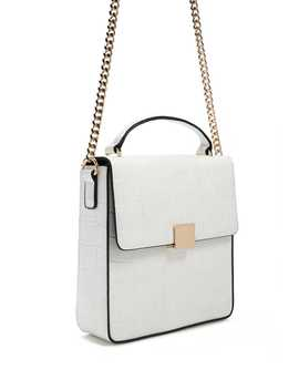 Embossed Faux Leather Satchel by Forever 21