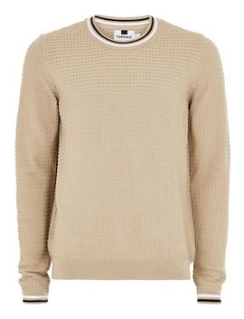 Stone Textured Tipped Sweater by Topman