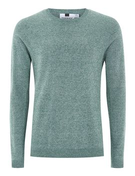 Teal And White Twist Side Ribbed Sweater by Topman
