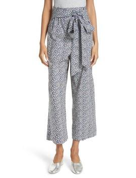 Lauren Floral Tie Waist Cotton Pants by Rebecca Taylor