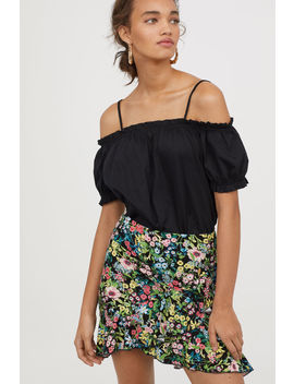 Flounced Jersey Skirt by H&M