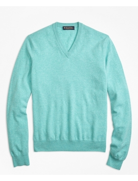 Silk And Cashmere V Neck Sweater by Brooks Brothers