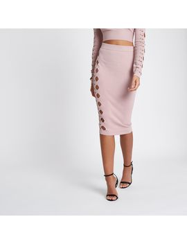 Light Pink Cut Out Studded Pencil Skirt                                  Light Pink Cut Out Studded Pencil Skirt                                    Light Pink Cut Out Cropped Long Sleeve Top                                    Light Pink Cut Out Cropped... by River Island