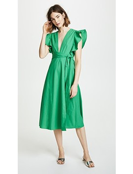 Molly Poplin Wrap Dress by Valencia &Amp; Vine