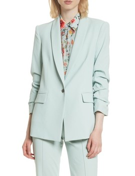 Ruched Sleeve Blazer by Alice + Olivia