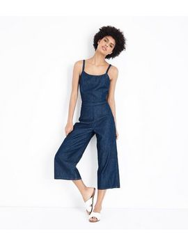 Blue Tie Back Lightweight Denim Jumpsuit by New Look