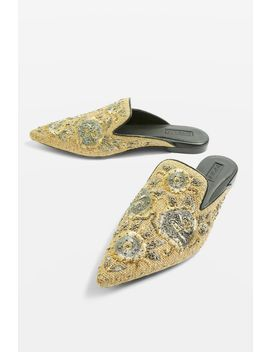 Embroidered Mules by Topshop