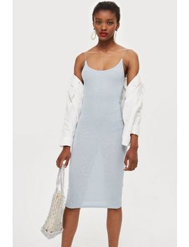Glitter Ribbed Midi Dress by Topshop