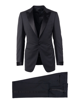 Tom Ford Black Wool Satin Lapel O'connor 2 Piece Tuxedo by Tom Ford