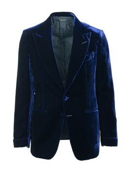 Tom Ford Dark Blue Velvet Conceal Heml Shelton Cocktail Jacket by Tom Ford