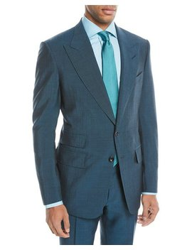 Textured Wool Blend Two Piece Suit by Tom Ford
