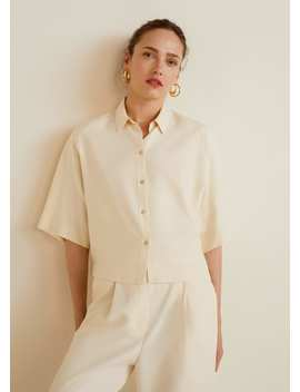 Tencel Oversized Blouse by Mango