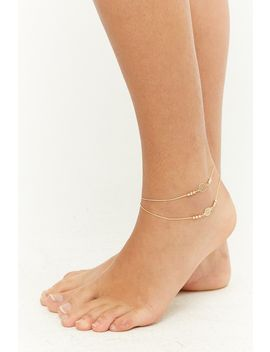 Disc Charm Anklet Set by Forever 21