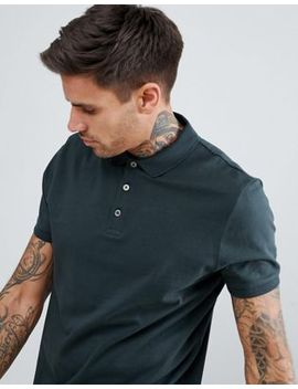 Asos Design Jersey Polo In Green by Asos Design