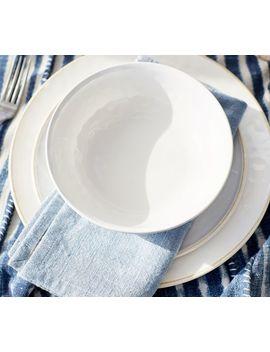 Cabana Melamine Dinner Plate, Set Of 4   Stone by Pottery Barn