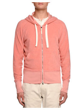 Terry Cloth Zip Front Hoodie by Tom Ford