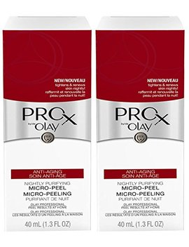 Olay Pro X Anti Aging Nightly Purifying Micro Peel 1.3 Fl Oz, 2 Pack by Olay